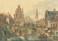 A capriccio view in Utrecht, with a smartlap performer on a bridge - Jan Hendrik Verheijen