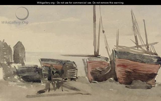 Hastings fishing boats - James Abbott McNeill Whistler