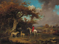A huntsman and hounds on the edge of a wood - James Ward