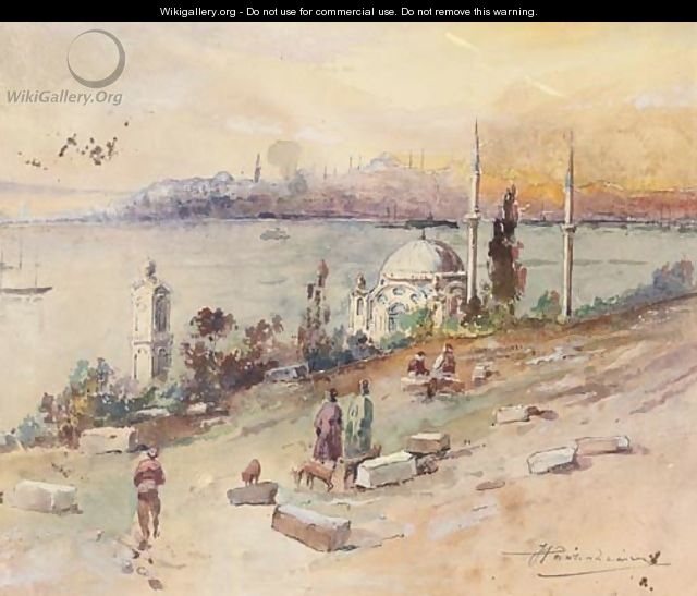 Sunset at the Golden Horn, Istanbul - Russian School