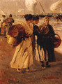 Fisherwomen on the beach - Salvador Martinez Cubells Y Ruiz