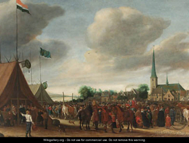The Horse Fair at Valkenburg - Salomon van Ruysdael