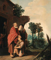 The Banishment of Hagar and Ishmael - Salomon de Bray
