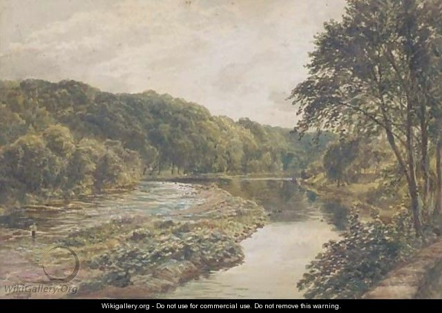View of the River Eden, near Carlisle - Samuel Bough