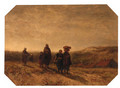 Returning from the beach, Scheveningen - Salomon Leonardus Verveer