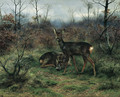 Young deer in a forest clearing - Rosa Bonheur
