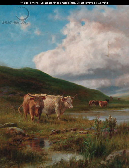 Highland Cattle William Watson | Oil Painting Reproduction | 1st