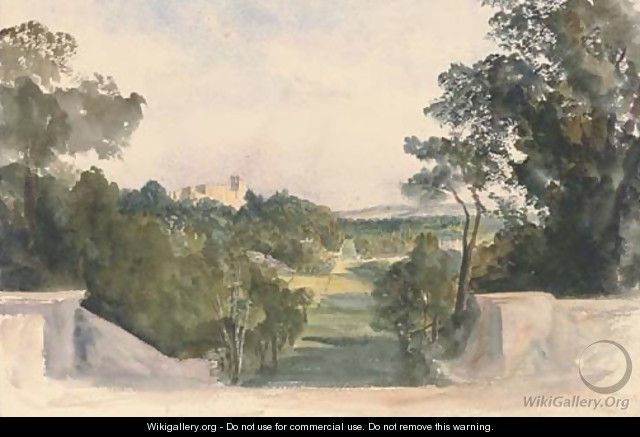 A view of Shrubland Hall, Suffolk - Harriet Cheney