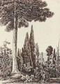 An Italianate tower observed through the trees - Harriet Cheney