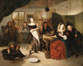 A Merry Company in a Tavern - Richard Brackenburgh