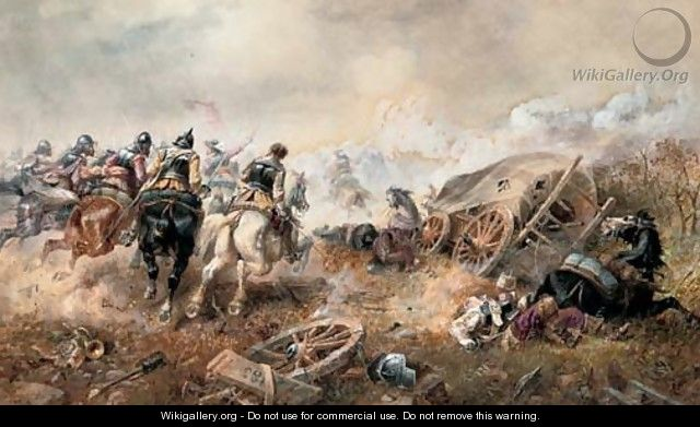 War - The attack on the baggage train at the battle of Edgehill - Richard Beavis