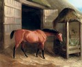 A hunter in a stable - Richard Barrett Davis