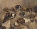 Study of a Group of Foxhounds - Richard Barrett Davis