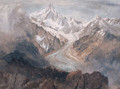The Fiescherhorn And The Viescher Glacier - Richard Henry Wright