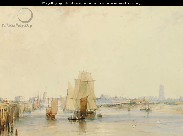 The harbour at Dunkerque - Richard Parkes Bonington