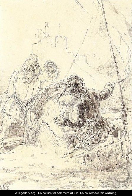An illustration to Walter Scott - Richard Parkes Bonington