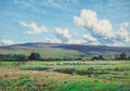 Sheep grazing, Lune Valley, Hornby - Reginald Aspinwall