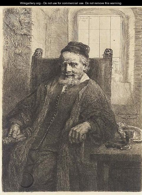 Jan Lutma, Goldsmith - Rembrandt Van Rijn