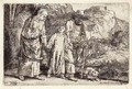 Christ returning from the Temple with his Parents - Rembrandt Van Rijn