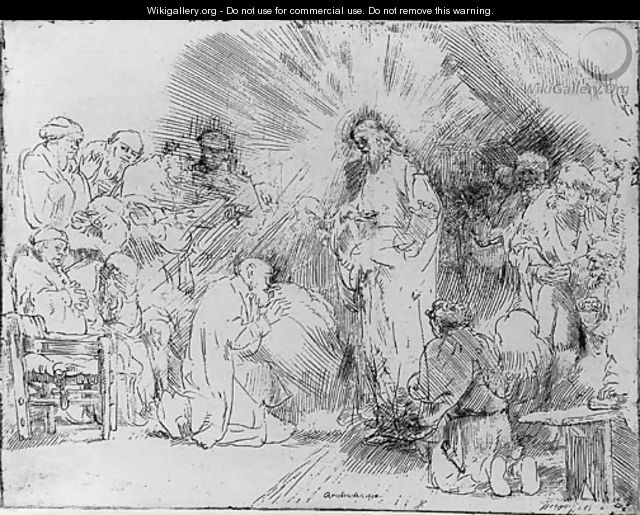 Christ appearing to the Apostles - Rembrandt Van Rijn