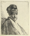 Bust of a Man wearing a High Cap (The Artists Father ) - Rembrandt Van Rijn
