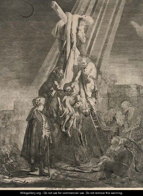 The Descent from the Cross Second Plate - Rembrandt Van Rijn