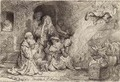 The Angel departing from the Family of Tobias - Rembrandt Van Rijn