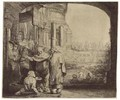 Saint Peter and Saint John healing the Cripple at the Gate of the Temple - Rembrandt Van Rijn