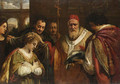 Saint Domitilla receiving the veil from Pope Clement - Pietro Da Cortona (Barrettini)