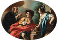 A youthful couple admonished by a priest - Pietro Bardellino