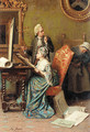 The painting lesson - Pio Ricci