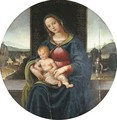 The Madonna and Child, the Infant Saint John the Baptist in a landscape with a town beyond - Raffaellino del Garbo