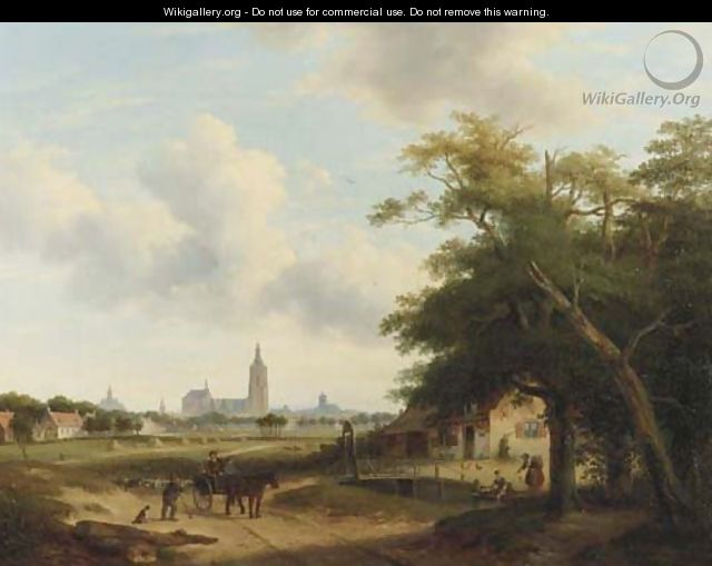 Panoramic view of The Hague, with the Nieuwe Kerk and the St Jacob