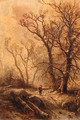 A forest in winter - Pieter Lodewijk Francisco Kluyver