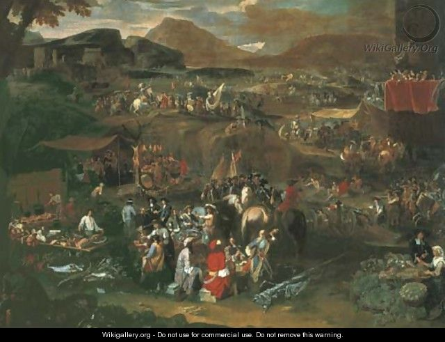 A military encampment on the Campus Martius - Pieter Hofmans, Il Giannizzero