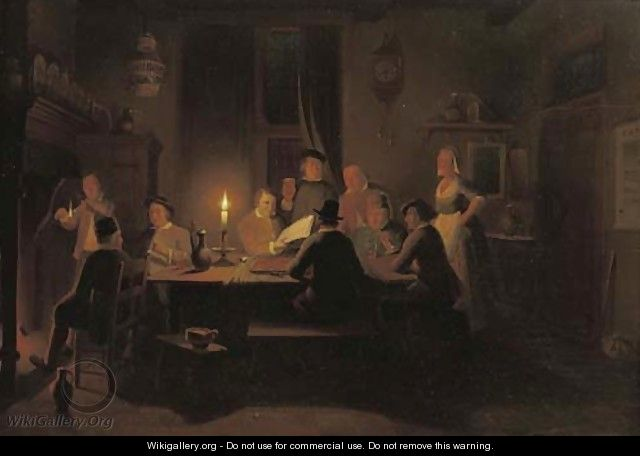 Evening at the inn - Pieter Gerardus Sjamaar