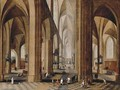 The interior of a gothic cathedral - Peeter, the Elder Neeffs