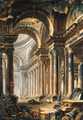 The interior of a Basilica - Pierre-Antoine Demachy