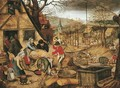 Autumn An Allegory of one of the Four Seasons - Pieter The Younger Brueghel