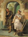 The Chimney-sweeper and the maid - Pieter Haaxman