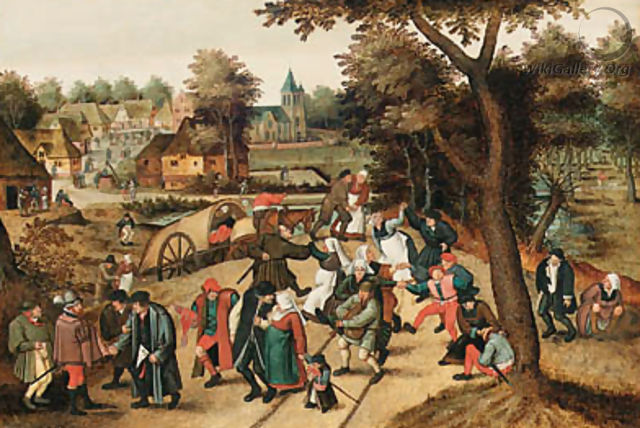 The Return from the Kermesse 2 - Pieter The Younger Brueghel