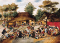 A wedding feast in a village - Pieter The Younger Brueghel