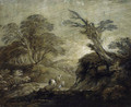 A horseman on a track in a wooded landscape - Thomas Gainsborough