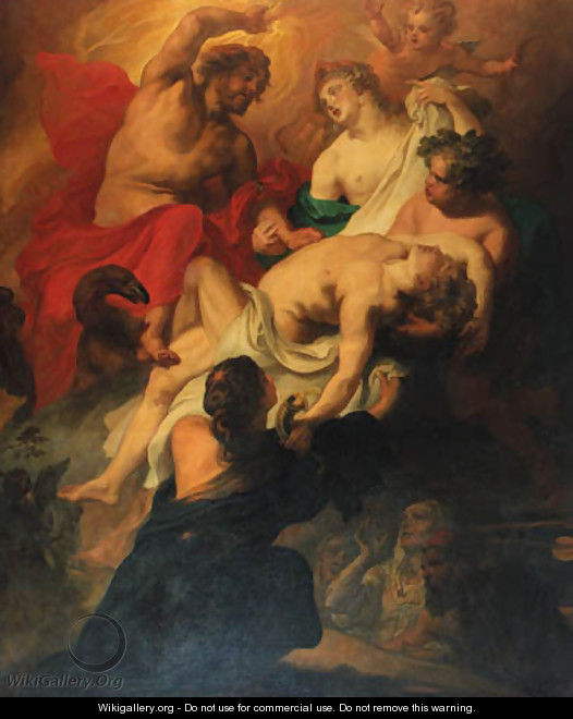 The Death of Phaeton - Theodor Van Thulden