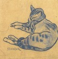 The blue cat - Theophile Alexandre Steinlen