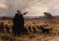 Shepherdess with her Flock - Theophile Louis Deyrolle