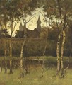A view of castle Doorwerth from the grounds - Theophile Emile Achille De Bock