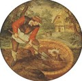 To fill the well once the calf has fallen in - (after) Pieter The Younger Brueghel