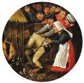 The Drunkard pushed into the Pigsty - (after) Pieter The Younger Brueghel