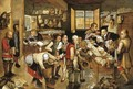 The collector of tithes - (after) Pieter The Younger Brueghel